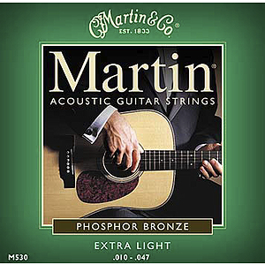 Martin Phosphor Bronze Extra Light Acoustic Strings - 3 sets of strings