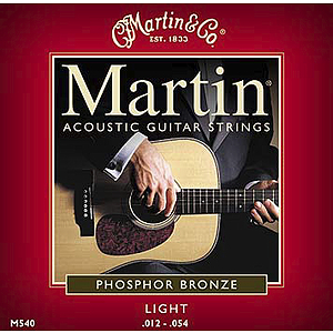 Martin Phosphor Bronze Light Acoustic Strings - 3 sets of strings