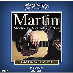 Martin Phosphor Bronze Medium Acoustic Strings - Box of 12 sets