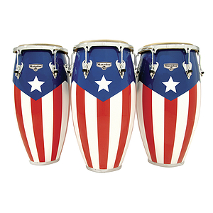 Latin Percussion M752S-PR Matador Conga - Puerto Rican Flag