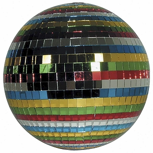 "MBT Mirror Ball - 12"" Multicolor Glass Ball"