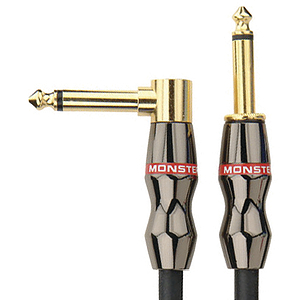 "Monster Jazz Instrument Cable - 12' angled to straight 1/4"" plugs"