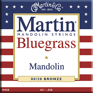 Martin Bluegrass 80/20 Bronze Mandolin Strings - 3 sets of strings
