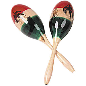 Maracas w/ Large Wood Shell