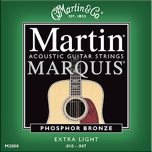 Martin Marquis 92/8 Phosphor Bronze Extra Light Acoustic Guitar Strings - 3 sets of strings