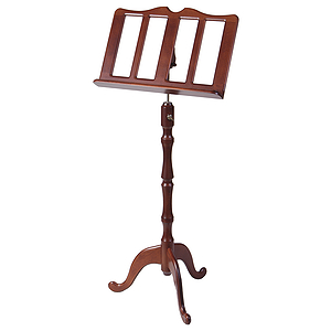 Stageline European Crafted Music Stand - Cherry, Steel Post