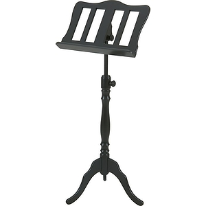 Stageline European Crafted Music Stand - Black, Wood Post