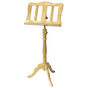 Stageline European Crafted Music Stand - Oak Finish, Wood Post
