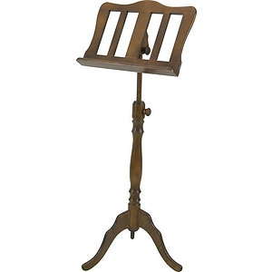 Stageline European Crafted Music Stand - Walnut, Wood Post