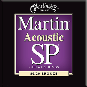 Martin SP 3050 Acoustic Guitar Strings - 80/20 Bronze Wound, Custom Light, 3 Sets