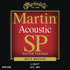 Martin SP 3100 Acoustic Guitar Strings - 80/20 Bronze Wound, Light, 3 Sets