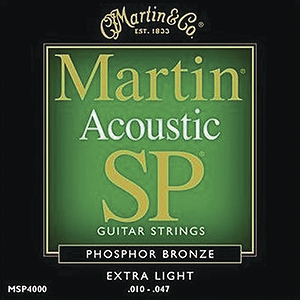 Martin SP 4000 Acoustic Guitar Strings - Phosphor Bronze, Extra Light, 3 Sets