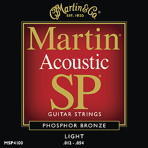 Martin SP 4100 Acoustic Guitar Strings - Phosphor Bronze, Light, 3 Sets