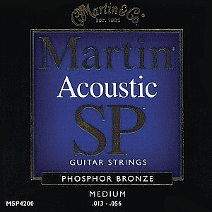 Martin SP 4200 Acoustic Guitar Strings - Phosphor Bronze, Medium, 3 Sets