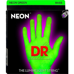 DR Strings NEON Green 5-string Bass Guitar Strings Medium