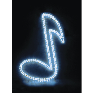 "MBT Decorative Window Light - Blue Musical Note (30"")"