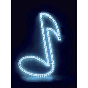 "MBT Decorative Window Light - Red Musical Note (30"")"