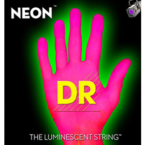 DR Strings NEON Pink 5-string Bass Guitar Strings Medium