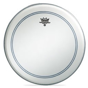 "Remo Powerstroke 3 Bass Drum Head - 24"" Coated/White Patch"