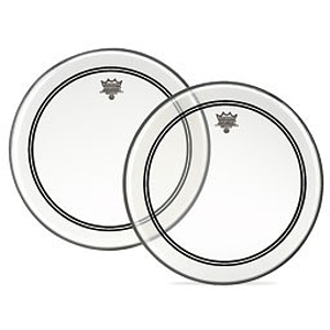"""Remo Powerstroke 3 Bass Drum Head - 20"""" Clear/White Patch"""