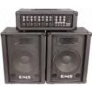 RMS PA4080PK 80-watt Portable PA System with Mixer and Speakers