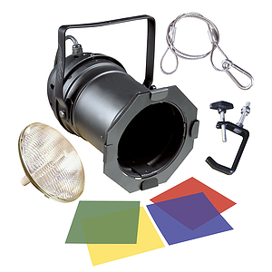 MBT Lighting PAR56 Par Can Kit w/Lamp and Gels - Black
