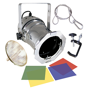 MBT Lighting PAR56 Par Can Kit w/Lamp and Gels - Polished Aluminum
