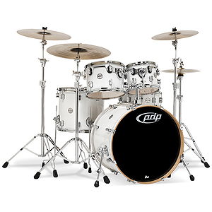 Pacific Drums PDCM2215PW 5-piece CM5 Maple Drum Set - Pearlescent White