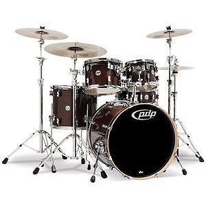Pacific Drums PDCM2215TW 5-piece CM5 Maple Drum Set - Trans Walnut Lacquer