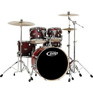 Pacific Drums FS 2206 Shell Pack - Cherry to Black Fade