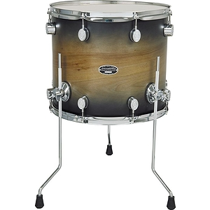 "Pacific Drums FS 14"" x 16"" Floor Tom - Natural to Charcoal"