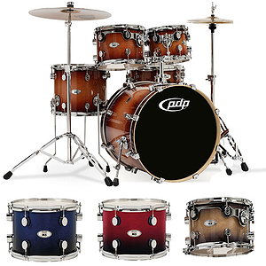 Pacific Drums M5 5-Piece Shell Set - Cherry Fade