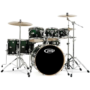 Pacific Drums M5 5-Piece Shell Set - Emerald to Black Fade