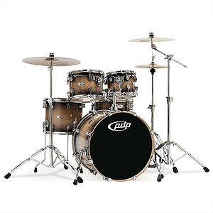 Pacific Drums M5 5-Piece Shell Set - Natural to Charcoal