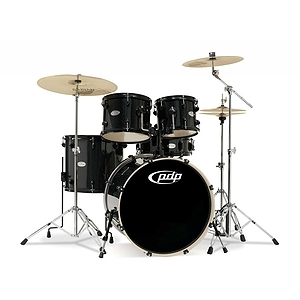 Pacific Drums PDMA22K8BK 5-piece Drum Set with Cymbals & Throne - Black Metallic
