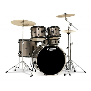 Pacific Drums PDMA22K8BZ Mainstage 5-piece Drum Set with Cymbals & Throne - Bronze Metallic