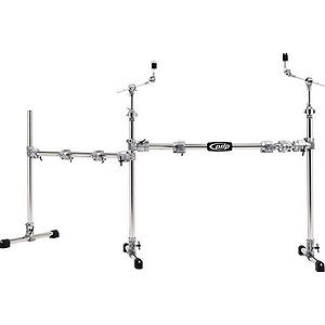 Pacific Drums PDSRCOMBO1 Drum Rack Set - Main/Side Combo - Chrome over Steel