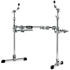 Pacific Drums PDSRPK05 Drum Rack - Main w/ 2 side wings - Chrome over Steel