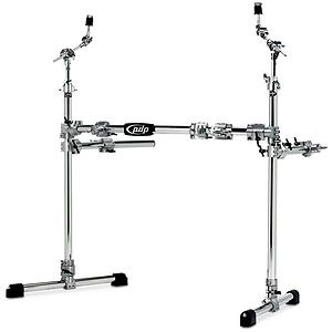 Pacific Drums PDSRPK05 Drum Rack - Main w/ 2 side wings - Chrome over Steel
