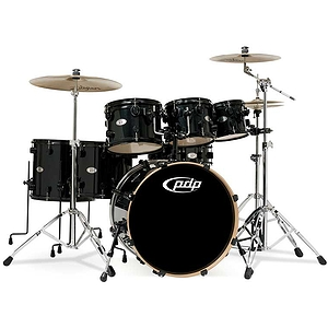 Pacific Drums X7 7-Piece Maple Shell Pack - Black Pearlescent