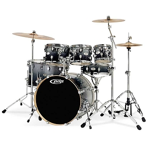 Pacific Drums X7 7-Piece Maple Shell Pack - Silver to Black Fade