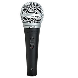 Shure PG48 Dynamic Vocal Microphone - XLR-XLR Cable