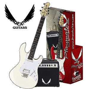 Dean PLAYAV09 Playmate Avalanche Electric Guitar Starter Pack - White