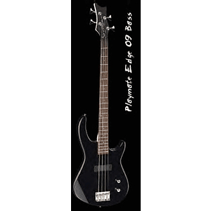 Dean Playmate Edge 09 Electric Bass Guitar - Classic Black, Left-Handed Model