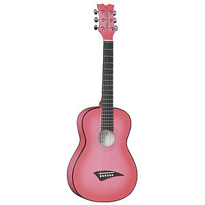 """Dean Playmate JT 34"""" 3/4-Size Student Acoustic Guitar - Pink Burst"""
