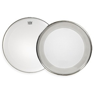 "Remo PowerMax Marching Bass Drum Head - 16"" Ultra White Crimplock"