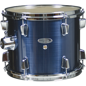 Percussion Plus Deluxe Beginner 5-Piece Drum Set w/ Cymbals and Throne - Brushed Blue