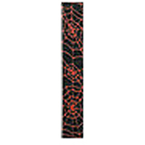 "LM Products Adjustable 2"" Guitar Strap - Black/Red Spider Web Design"