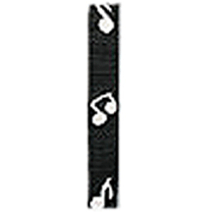 LM Products Adjustable 2&quot; Guitar Strap - Musical Notes Design