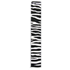 "LM Products Adjustable 2"" Guitar Strap - Black/White Zebra Stripe Design"
